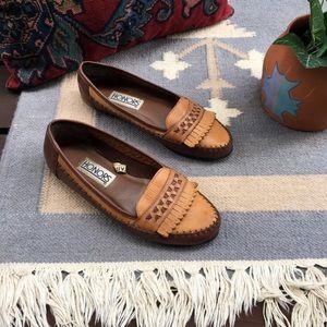Vintage Boho Fringed Moccasin Loafers